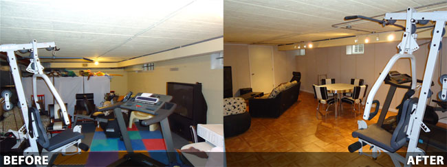 basement finishing before and after in rockford milwaukee racine wisconsin and illinois. Black Bedroom Furniture Sets. Home Design Ideas