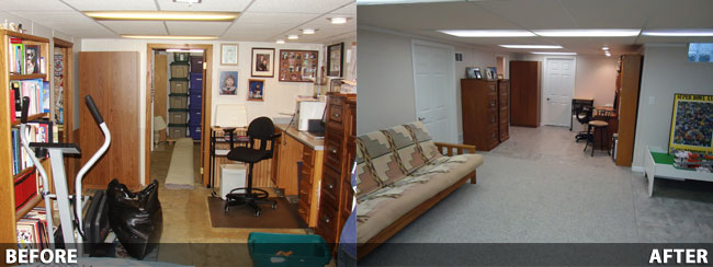 basement finishing before and after in rockford  milwaukee  basement repair specialists milwaukee